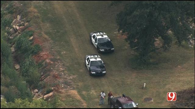 WEB EXTRA: Bob Mills SkyNews 9 HD Flies Over Search For Church Robbery Suspect