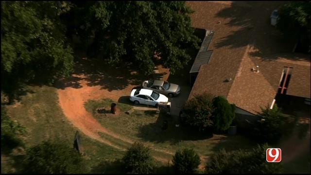 WEB EXTRA: SkyNews 9 Flies Over Homicide Investigation Outside Blanchard
