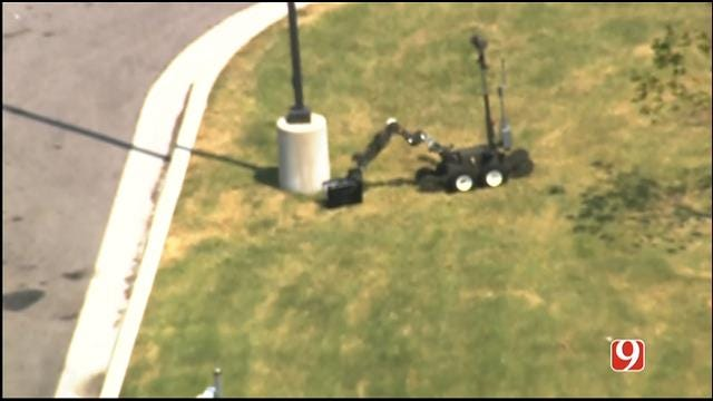 WEB EXTRA: SkyNews 9 Flies Over Bomb Squad Investigation At OKC Truck Stop