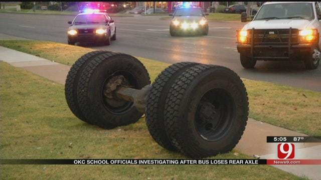 OKC School Officials Investigating After Bus Loses Rear Axle
