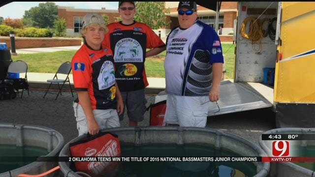 News 9's Lacey Swope Spends Day With 2 National Bassmasters Junior Champs
