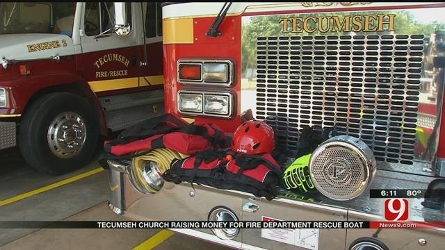 Tecumseh Church Helping To Raise Money For Fire Department Rescue Boat