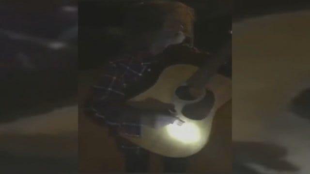 WEB EXTRA: Homeless Veteran Plays New Guitar