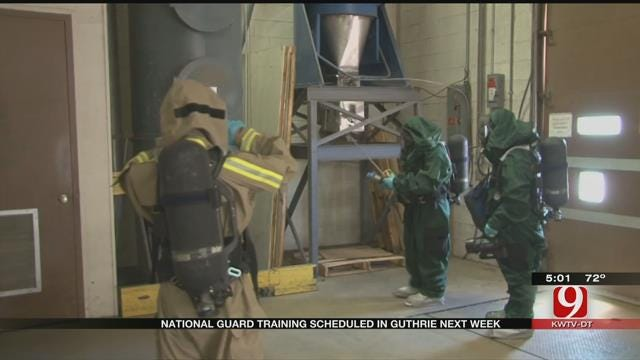 National Guard Chemical Warfare Training Scheduled In Guthrie