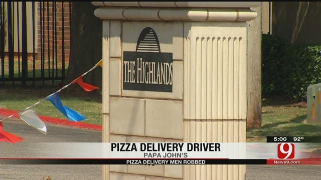Pizza Delivery Drivers Robbed At Gunpoint Inside NW OKC Apartment Complex