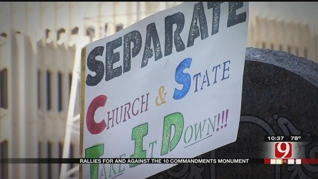 Oklahomans Continue To Debate Ten Commandments Monument Placed On State Grounds