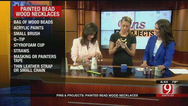 Pins & Projects: Painted Bead Wood Necklaces