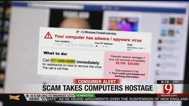 Authorities Warn Against 'Ransom-Ware' Scam
