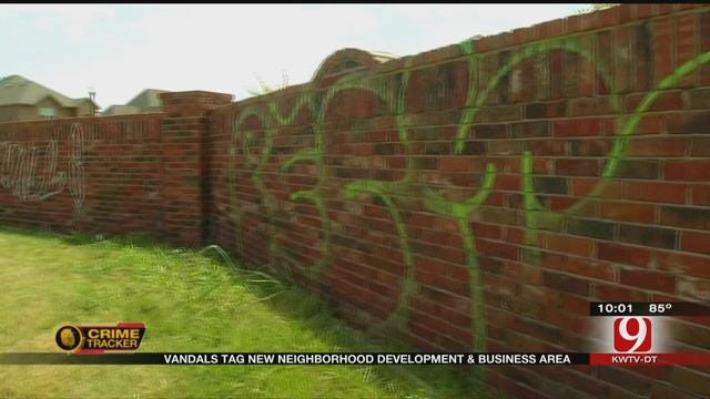 NW OKC Neighborhood Vandalized With Graffiti