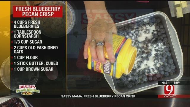 Fresh Blueberry Pecan Crisp