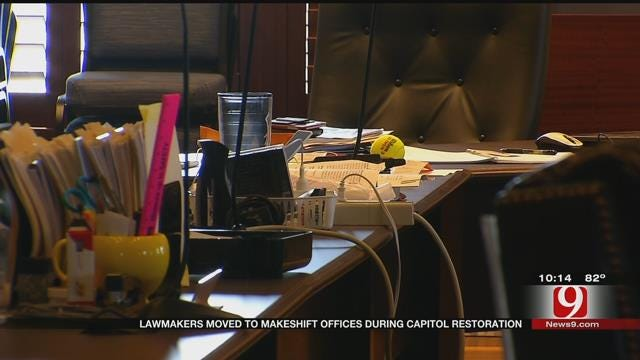 Lawmakers Moved To Makeshift Offices During Capitol Restoration