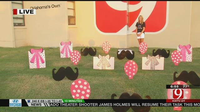 'Signs To Celebrate' Decorates News 9 Yard For Lacey's Birthday