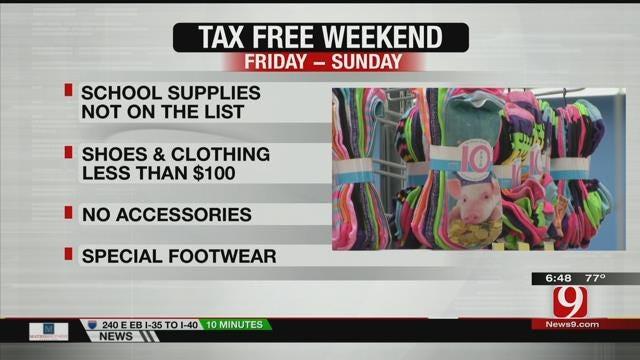 Tax Free Weekend Begins On Friday In Oklahoma