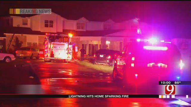 Lightning Strikes Home, Causes Fire In Edmond