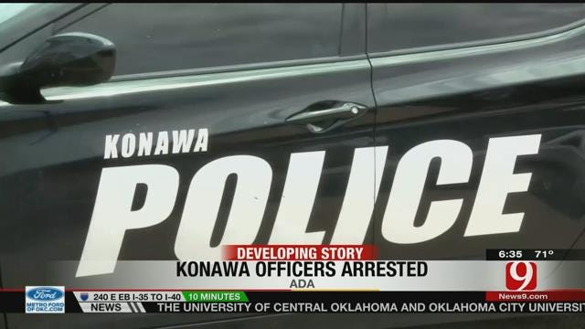 Two Konawa Police Officer Arrested For Firing Shots From Moving Vehicle