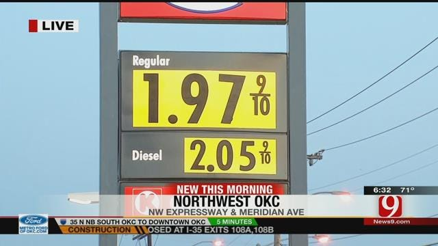 Lower Gas Prices Reported Across OKC Metro