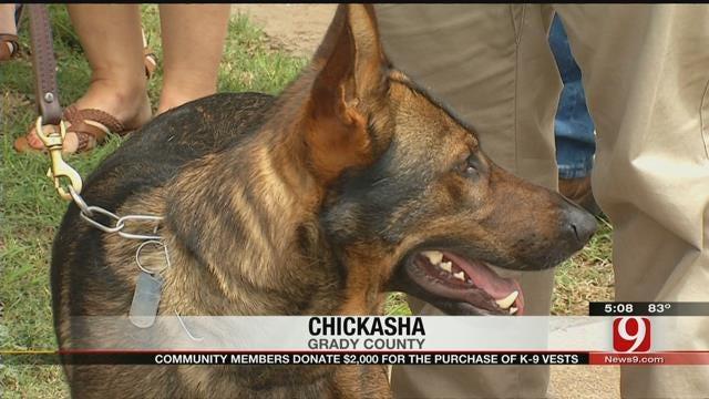 Chickasha Community Members Donate $2K For K-9 Vests
