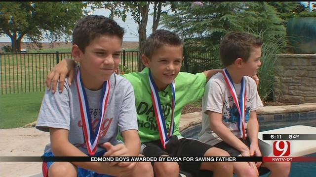 3 Boys Honored By EMSA For Saving Dad's Life