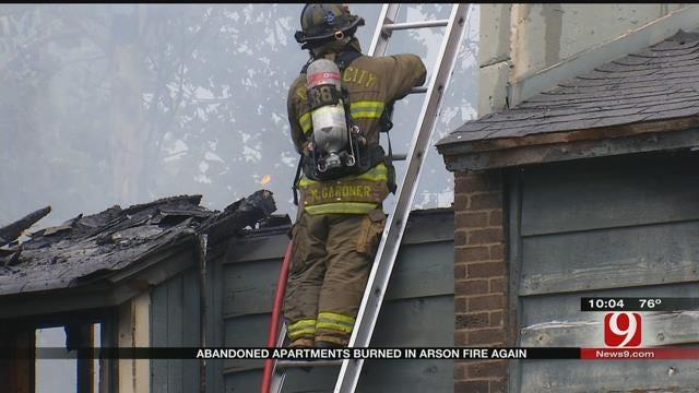 Abandoned NW OKC Apartment Complex Set Ablaze, Again