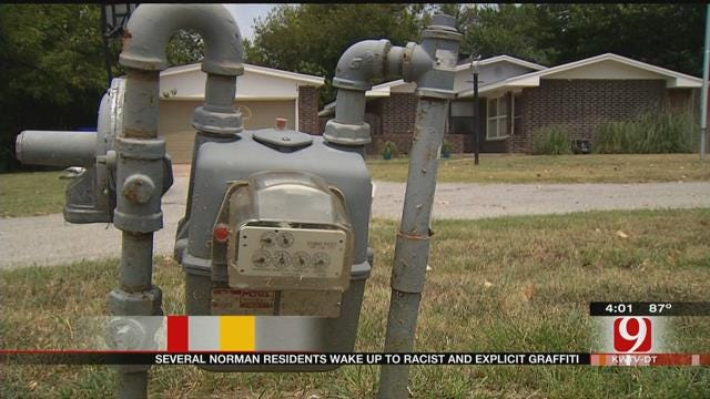Racist Graffiti Scrawled All Over Norman Neighborhood