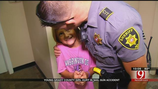 Young Grady County Girl Hurt In Nail Gun Accident