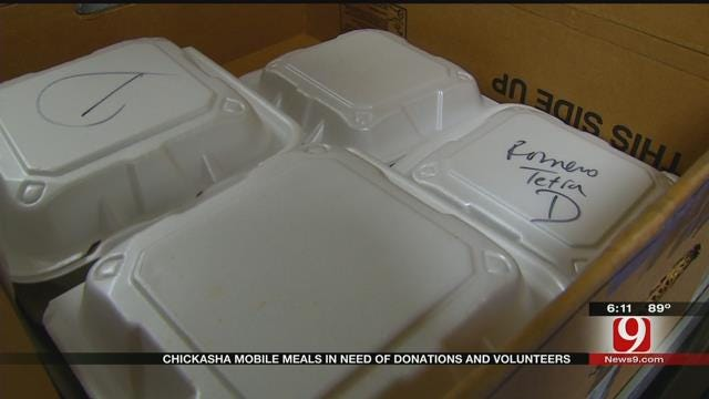 Chickasha Mobile Meals In Need Of Donations And Volunteers