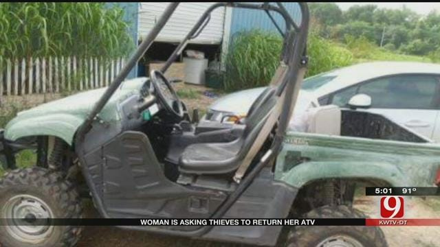 Thieves Steal ATV, Tools From Shawnee Woman's Farm