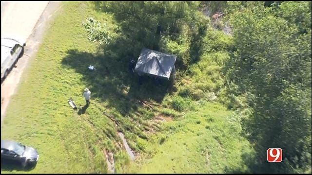 WEB EXTRA: Bob Mills SkyNews 9 HD Flies Over Scene Where Possible Human Remains Found