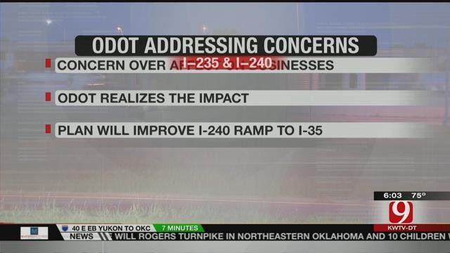 Journal Record: ODOT Trying To Address Concerns Over I-35/I-240 Upgrades