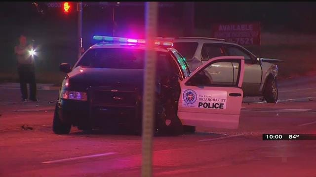 OKC Police Officer Hospitalized Following Crash