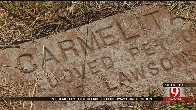 OKC Pet Cemetery To Be Cleared For New Highway Construction