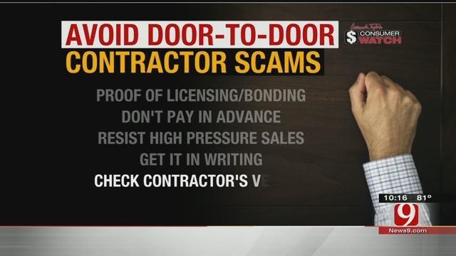 Consumer Watch: Avoiding Door-To-Door Contractor Scams