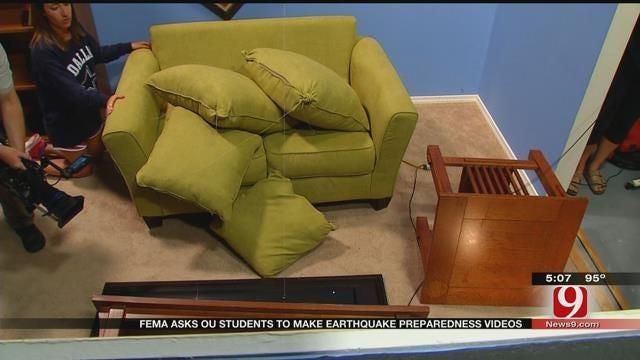 OU Making Videos For FEMA Showing Earthquake Destruction