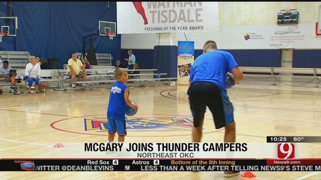 McGary Visits Thunder Campers