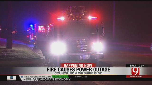 Power Restored In NW OKC Following Transformer Fire At OG&E Substation