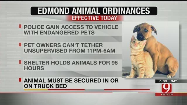 New Edmond Animal Ordinances Go In To Effect