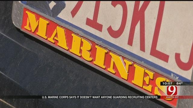 U.S. Marine Corps Says It Doesn't Want Anyone Guarding Recruiting Centers