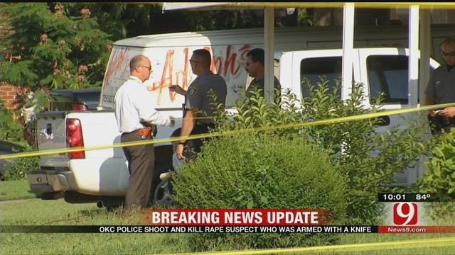 OKC Police Shot And Killed Rape Suspect Armed With A Knife