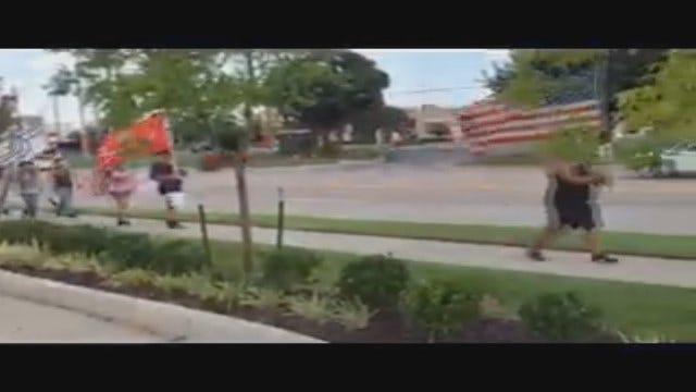 WEB EXTRA: Little Axe Teacher Walks 25 Miles To Honor Shooting Victims