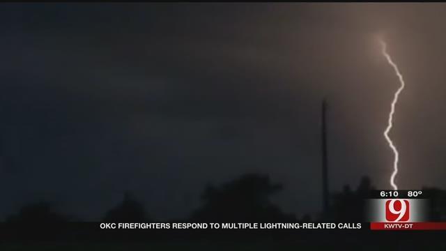 Lightning Kept OKC Firefighters Busy Throughout Night