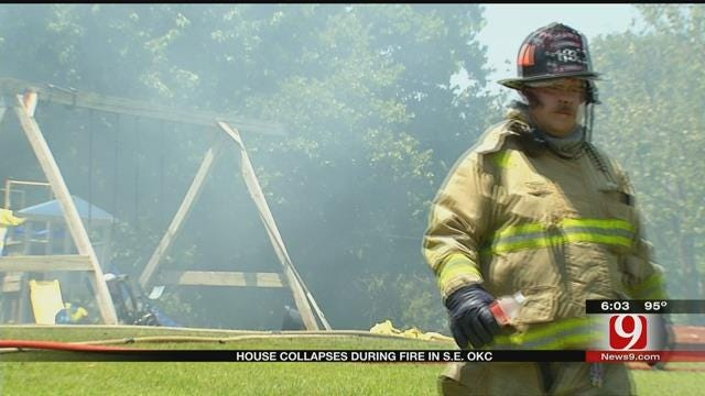 House Collapses During Fire In SE OKC