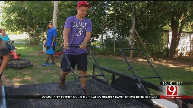 Community Effort To Help Kids Also Means A Facelift For Rush Springs