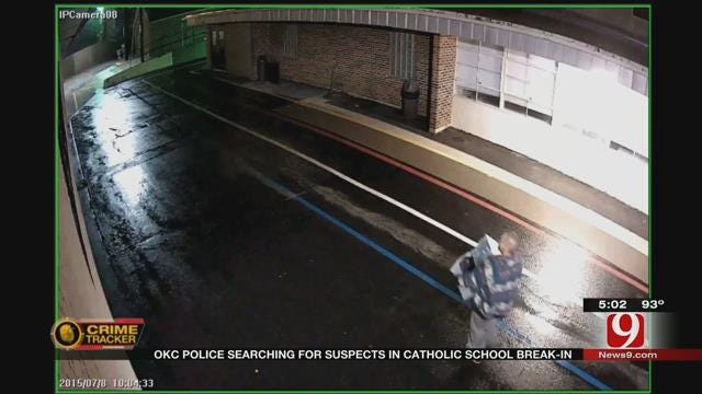 OKC Police Searching For Suspects In Break-In At Catholic School