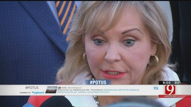 Governor Fallin Welcomes President's Visit To Oklahoma
