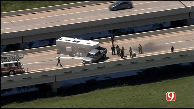 WEB EXTRA: Rollover Wreck On Kilpatrick Turnpike In NW OKC
