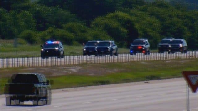 WEB EXTRA: President Obama's Motorcade Leaving Downtown OKC