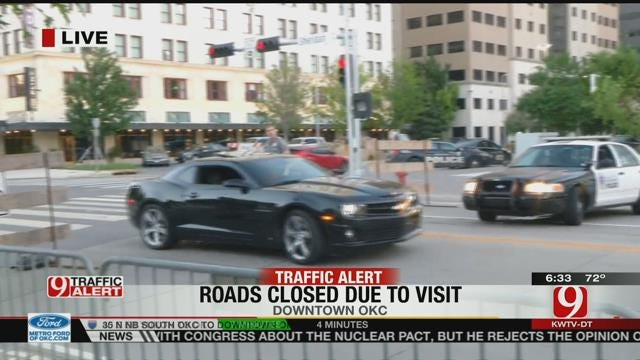 Expect Traffic Delays In Downtown OKC Due To Presidential Visit