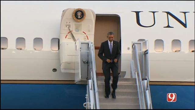 WEB EXTRA: President Obama Lands At Tinker Air Force Base