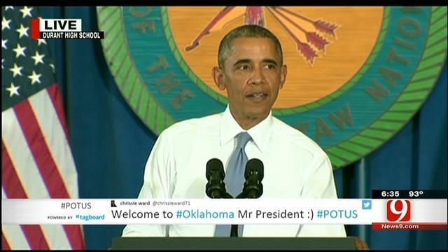 President Obama Speaks In Durant, Part III