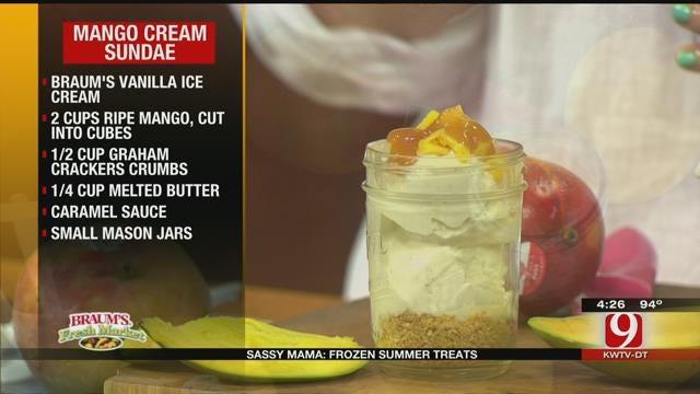 Mango Cream Sundaes
